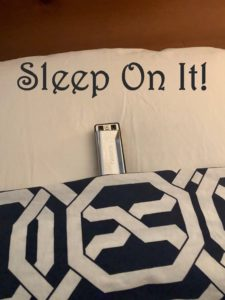 This image has an empty alt attribute; its file name is Sleep-On-It-pic-225x300.jpg